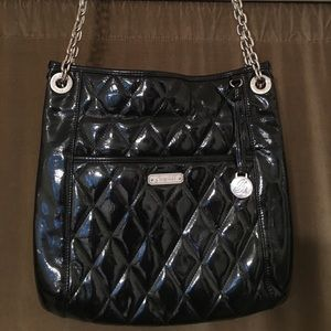 Grace Adele Black Patent Leather Bag